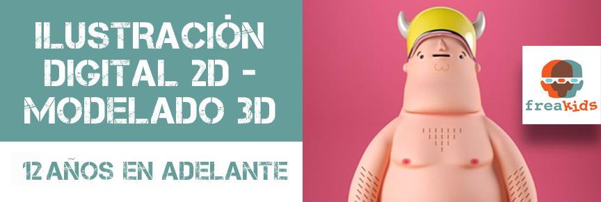 Curso de Ilustracion 2D y Modelado 3D para Adolescentes y adultos