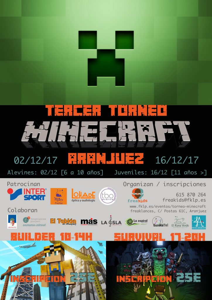 Participa en el Tercer Torneo de Minecraft en Aranjuez