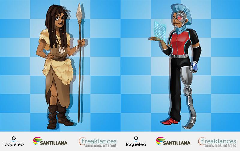 Avatares loqueleo de Santillana serie Azul