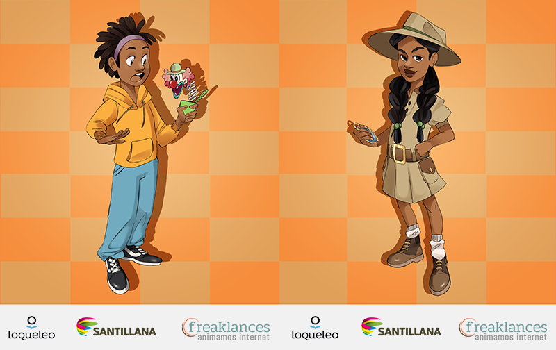 Avatares loqueleo de Santillana serie Naranja