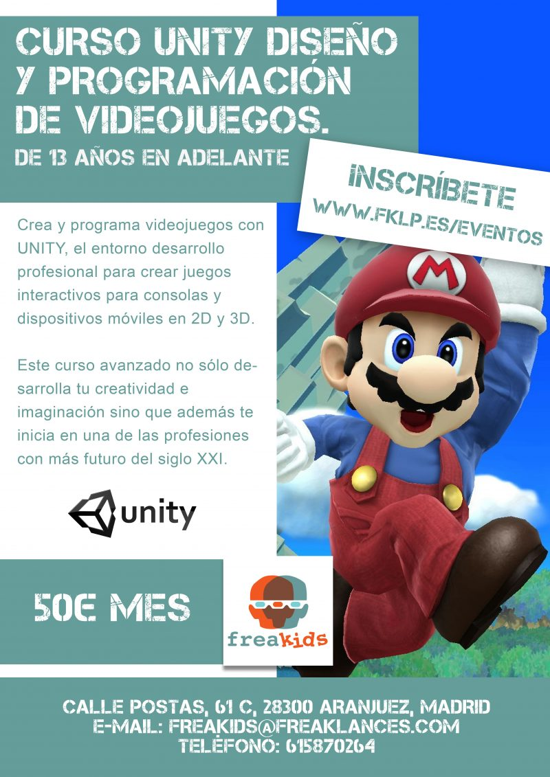 Curso Unity de Diseño y Programación de videojuegos
