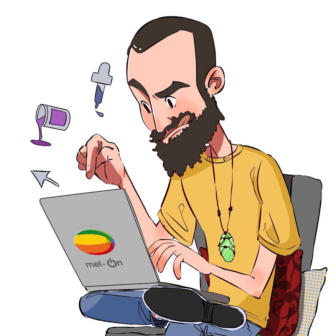 Ilustración Caricatura Equipo Freaklances