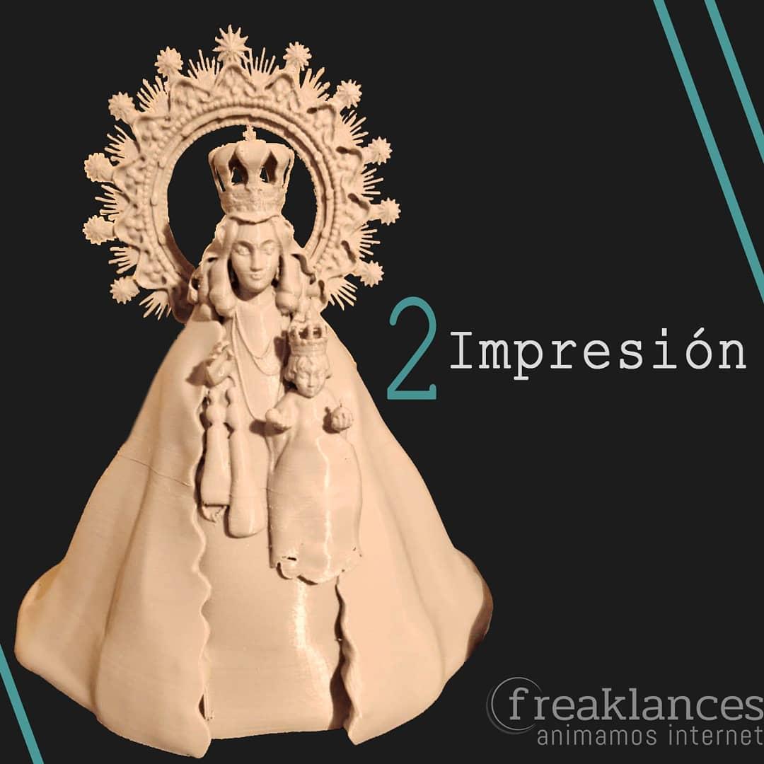 Modelado 3D figura Virgen