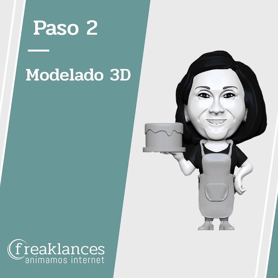 Modelado 3D repostera