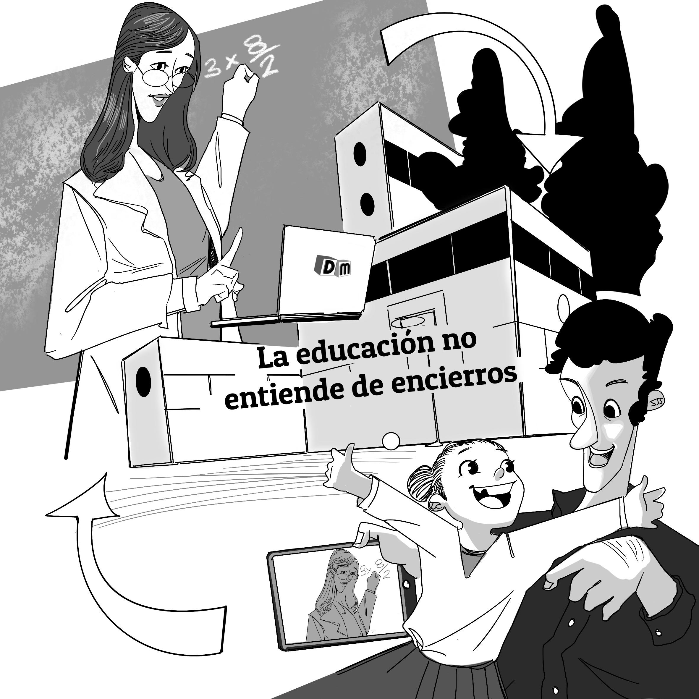 David Mora_Viñeta 1_La educación no entiende de encierros