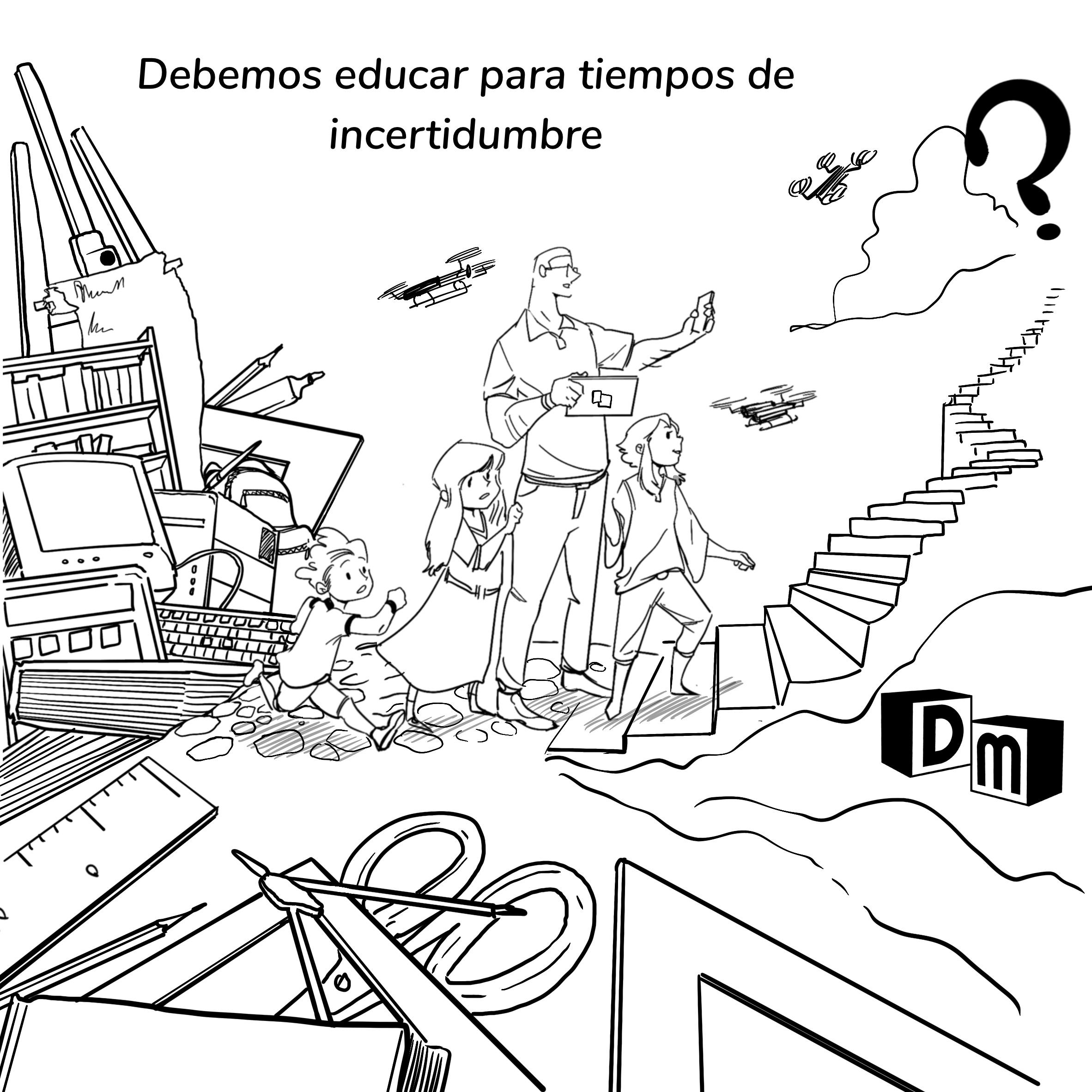 David Mora_Viñeta 2_Debemos educar para tiempos de incertidumbre