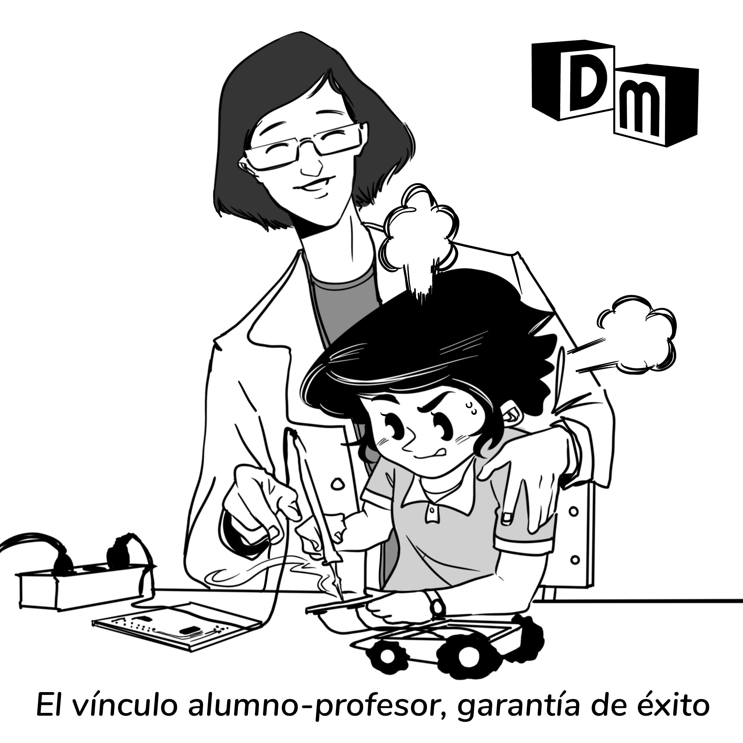 David Mora_Viñeta 3_El vínculo alumno-profesor, garantía de éxito