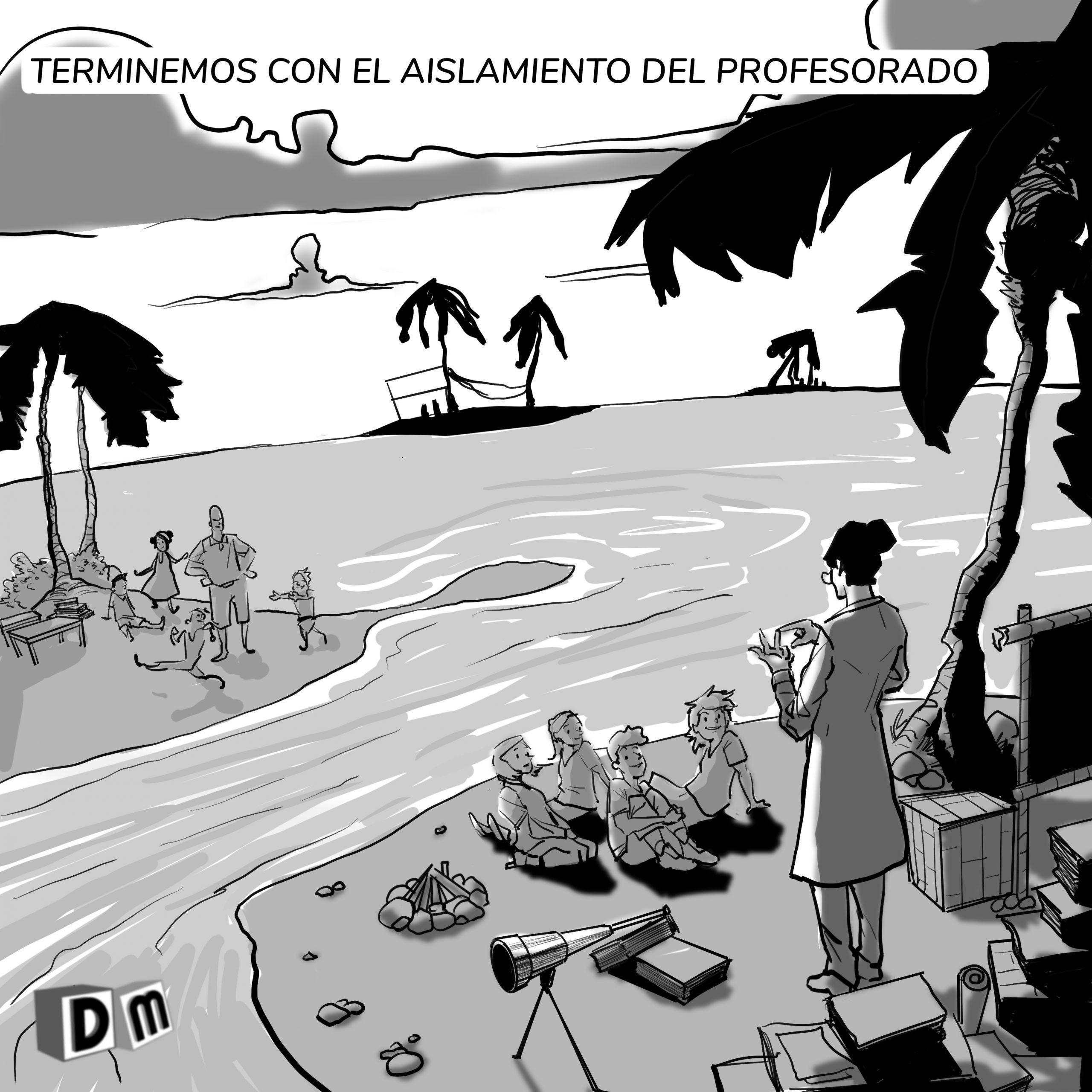 David Mora_Viñeta 5_Terminemos con el aislamiento del profesorado