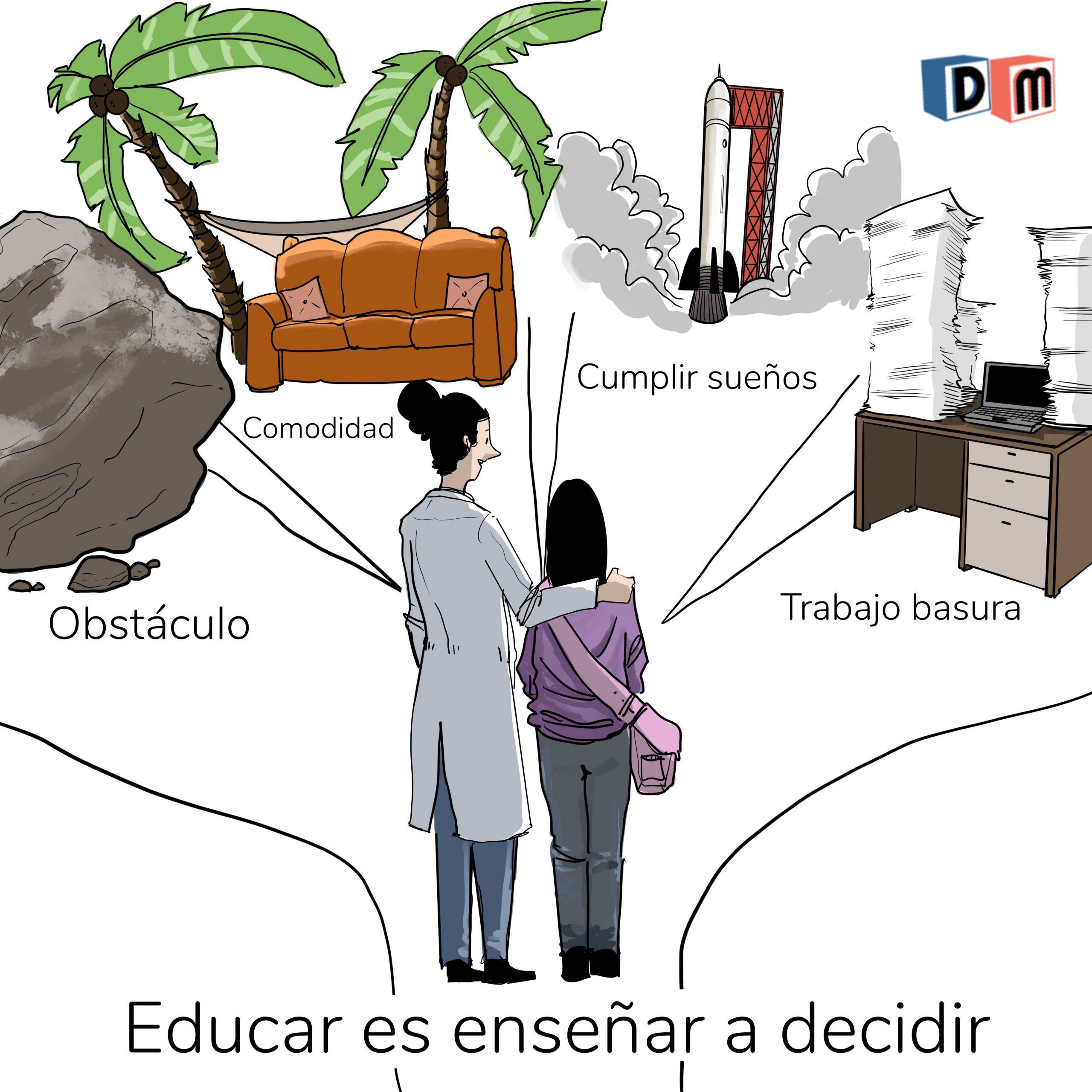 David Mora_Viñeta 14_Educar es enseñar a decidir