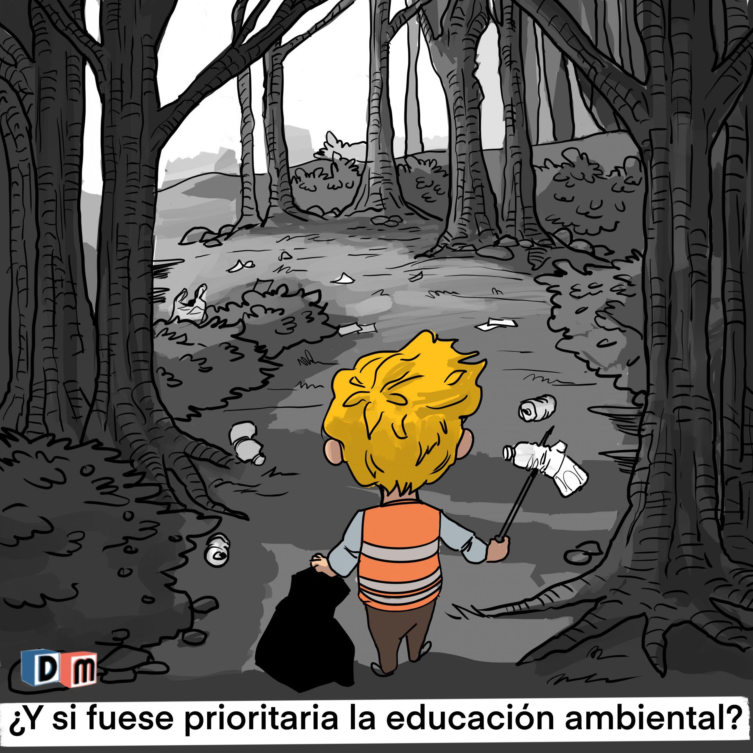 David Mora_Viñeta 19_¿Y si fuese prioritaria la educación ambiental?