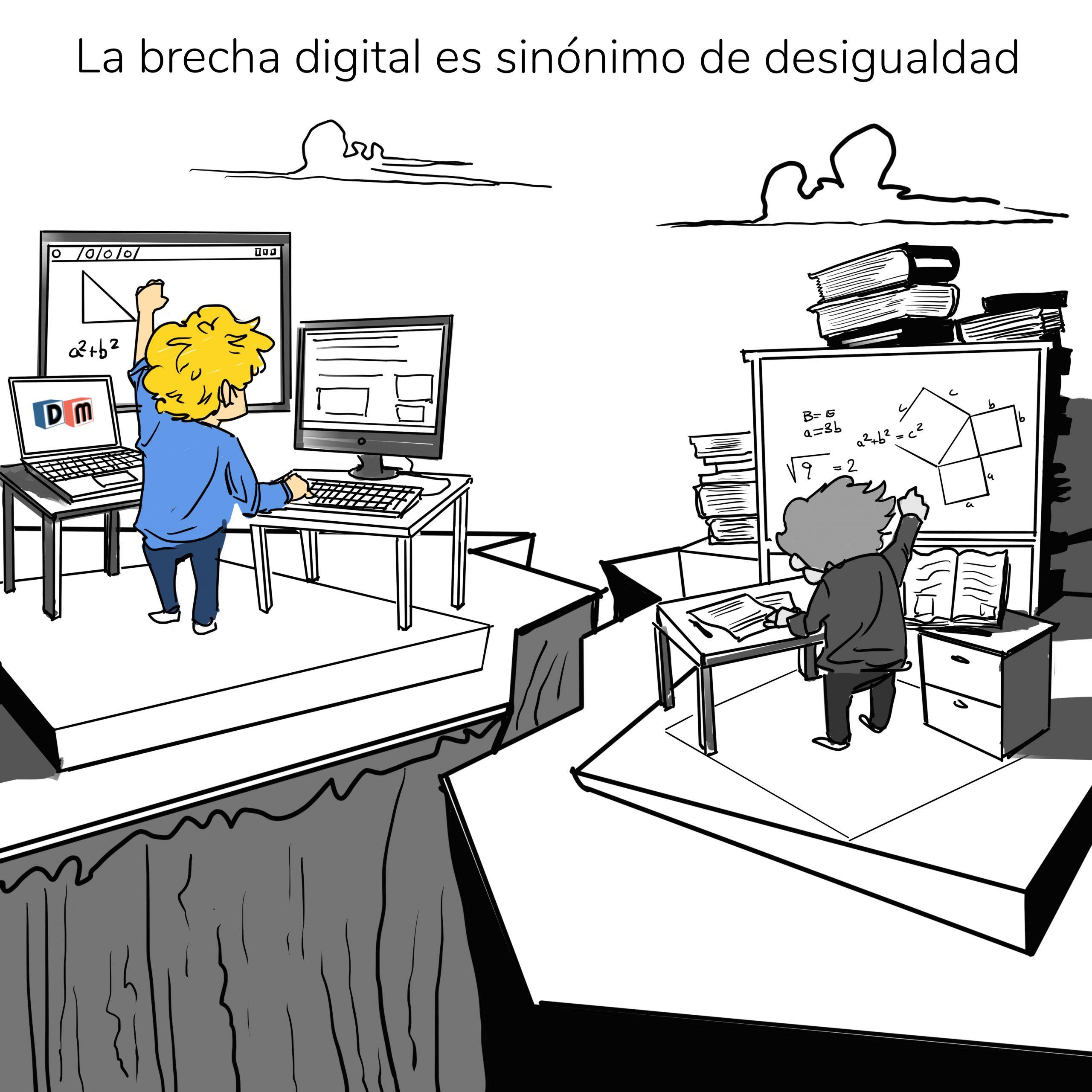 David Mora_Viñeta 20_La brecha digital es sinónimo de desigualdad