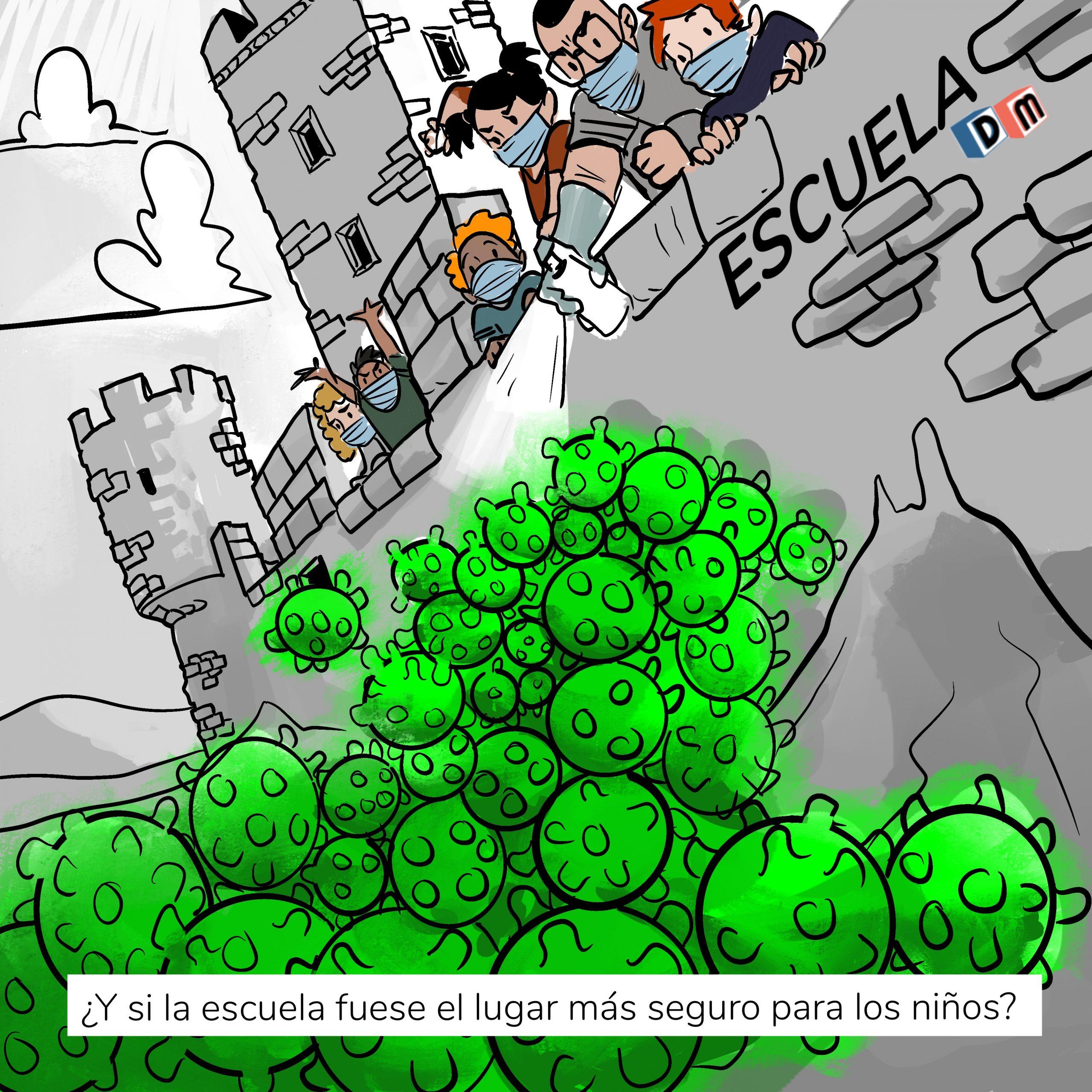 David Mora_Viñeta 24_¿Y si la escuela fuese el lugar más seguro para los niños?