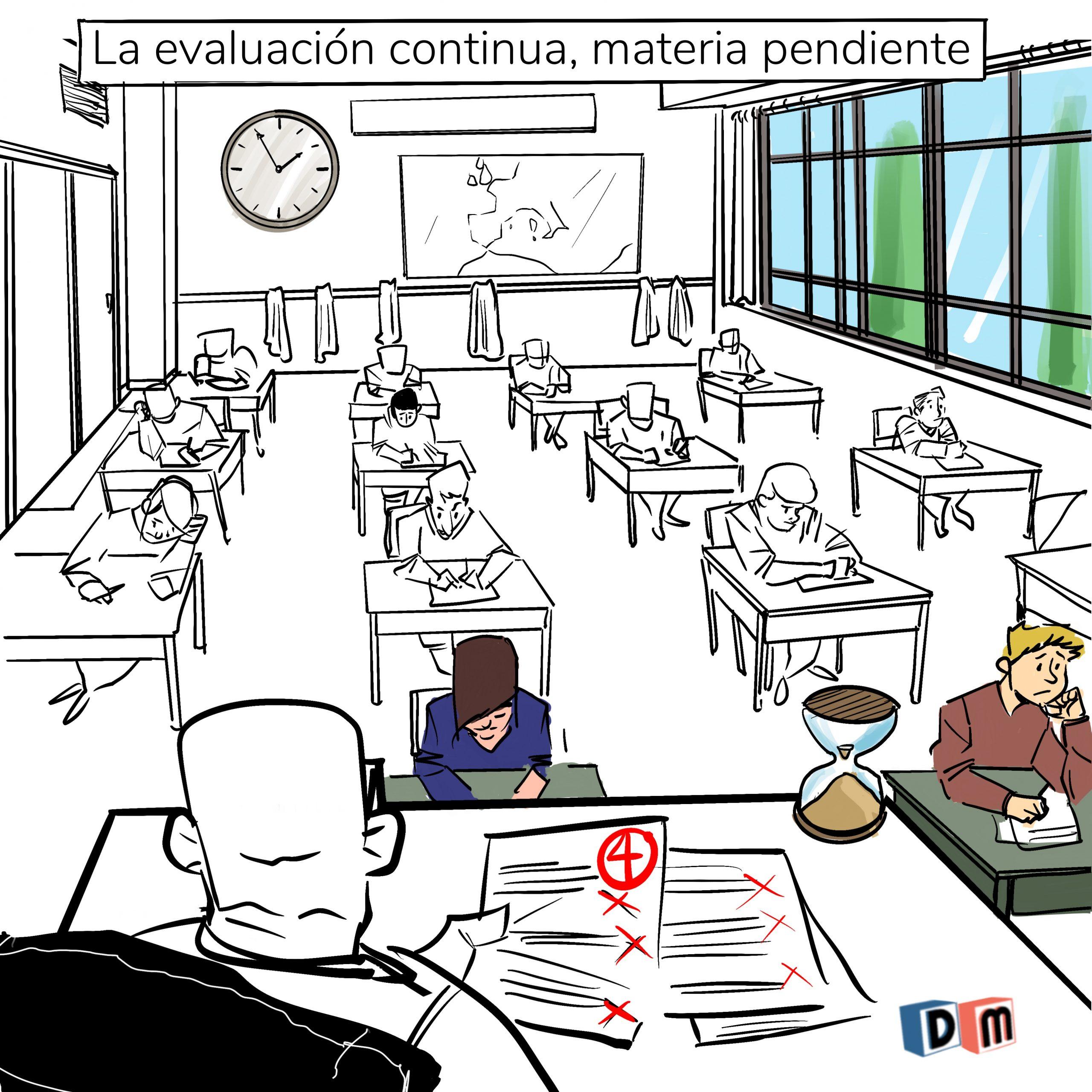 David Mora_Viñeta 25_La evaluación continua, materia pendiente
