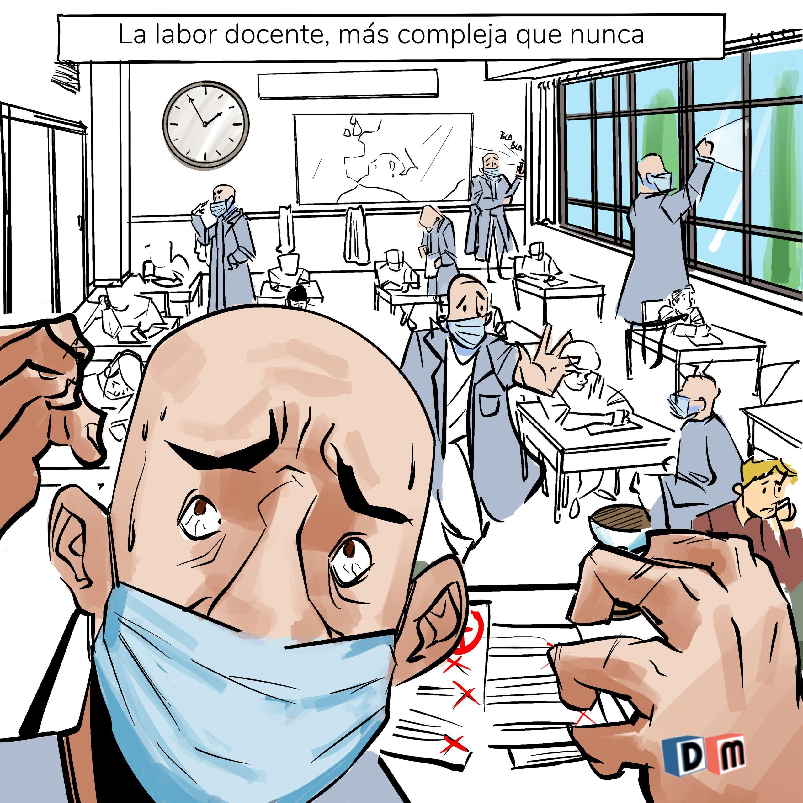 David Mora_Viñeta 26_La labor docente, más compleja que nunca