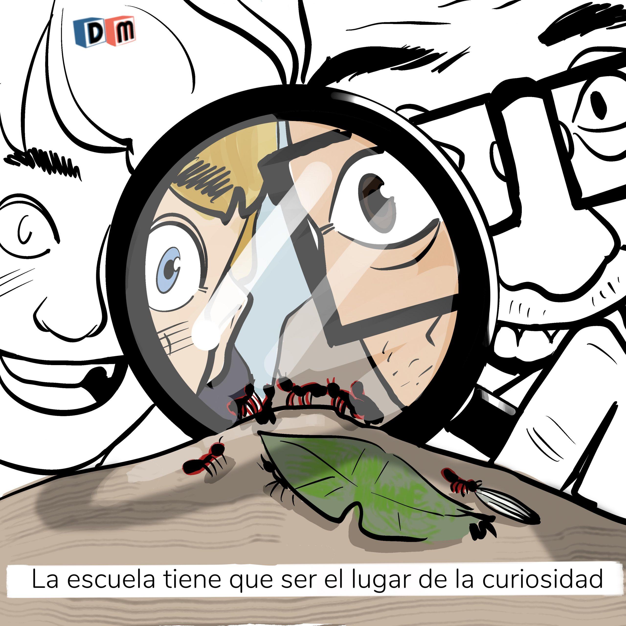 David Mora_Viñeta 27_La escuela tiene que ser el lugar de la curiosidad