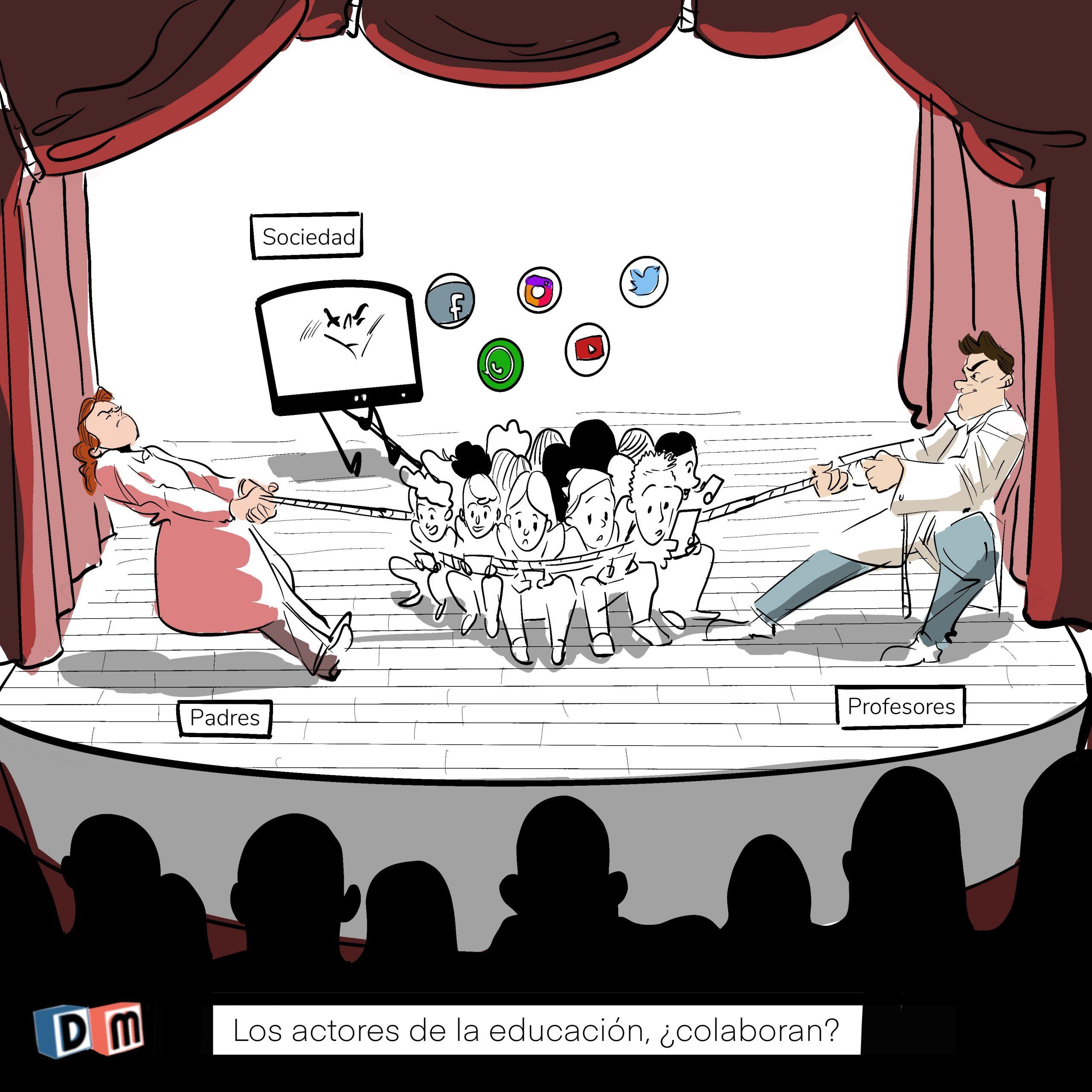 David Mora_Viñeta 28_Los actores de la educación, ¿Colaboran?