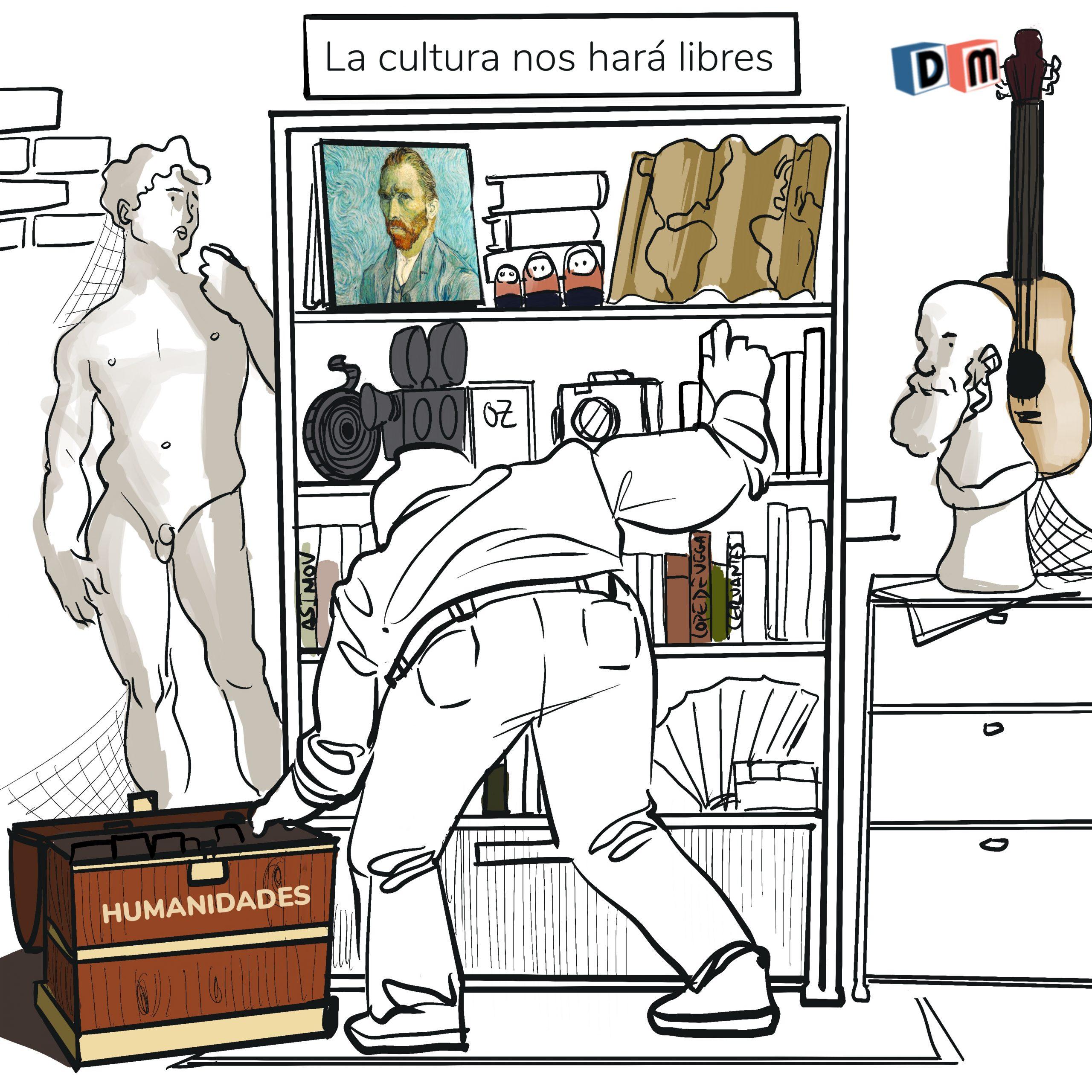 David Mora_Viñeta 30_La cultura nos hará libres