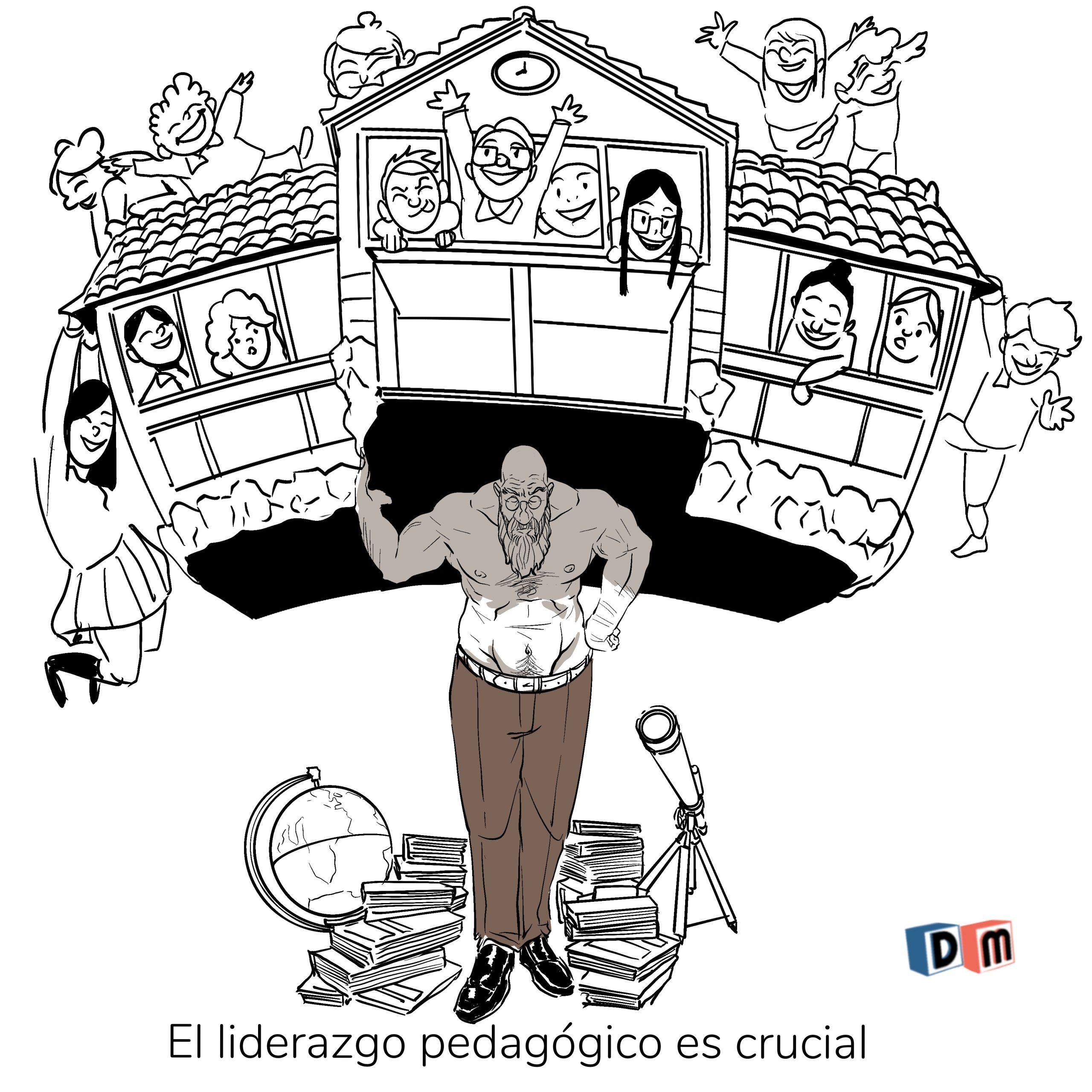 David Mora_Viñeta 33_El liderazgo pedagógico en crucial