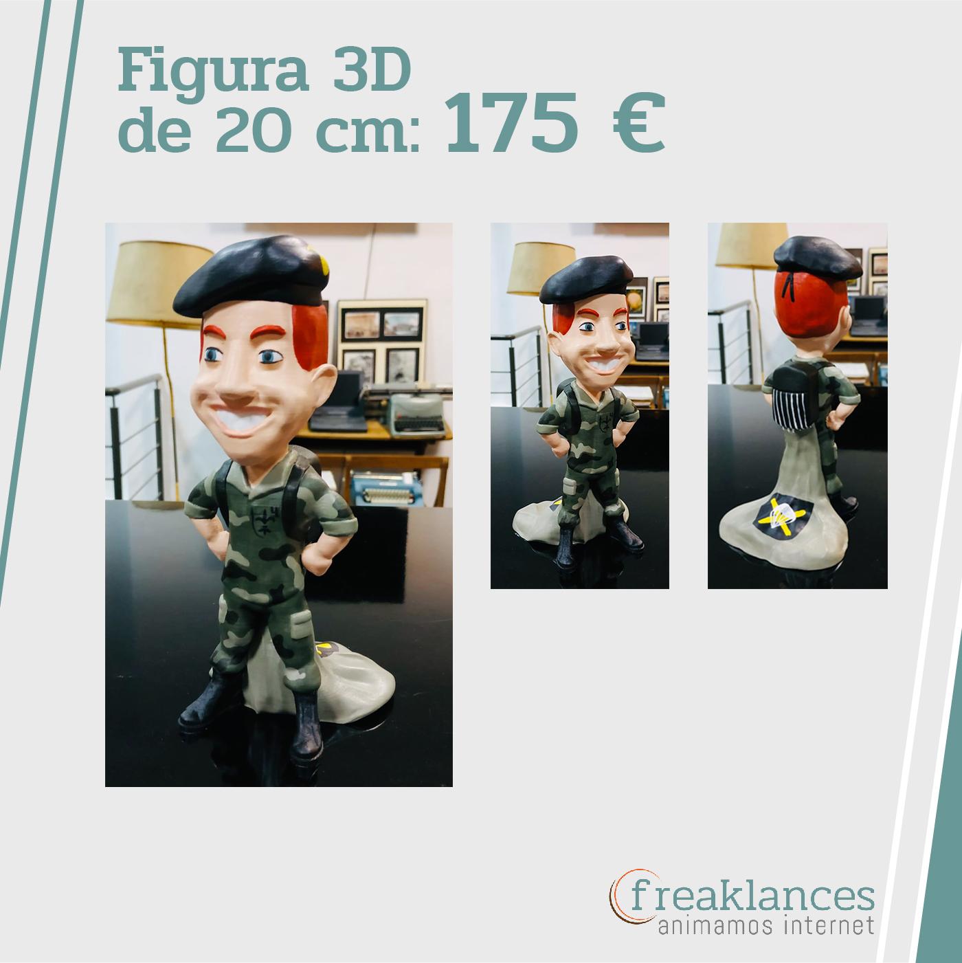 Figura 3D Personalizada Paracaidista