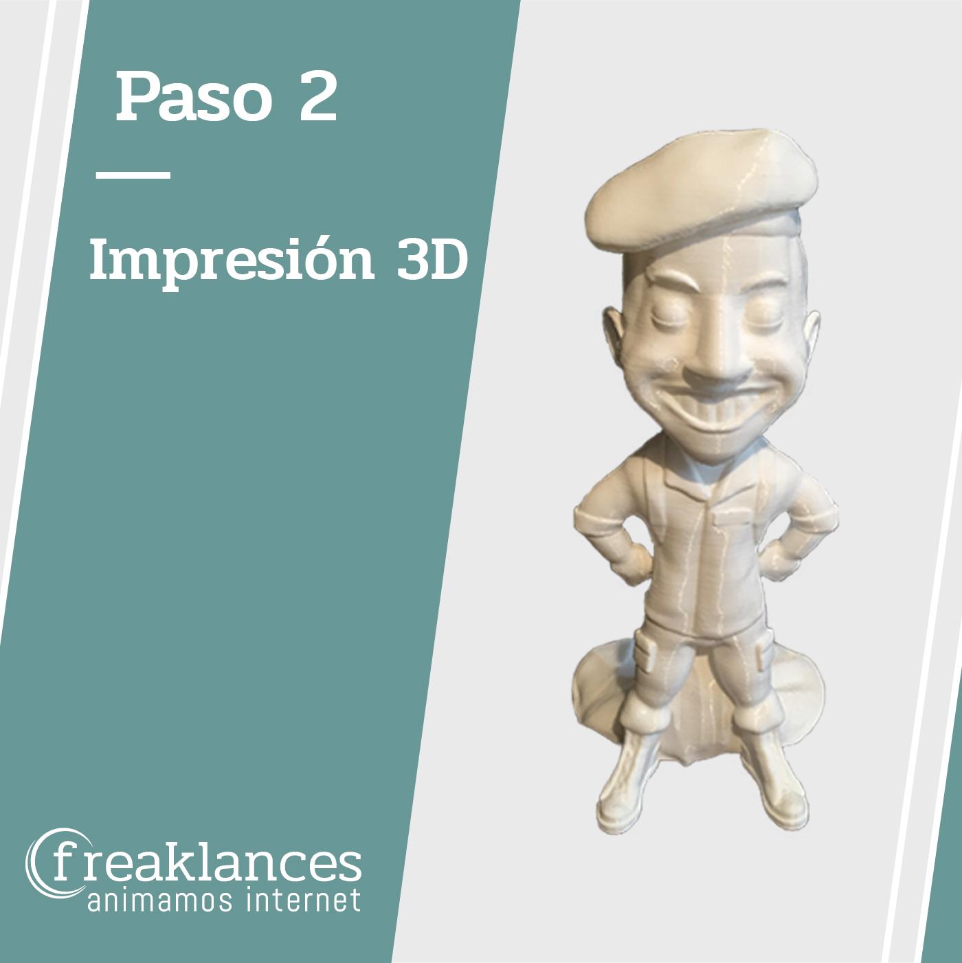 Impresión 3D figura Paracaidista